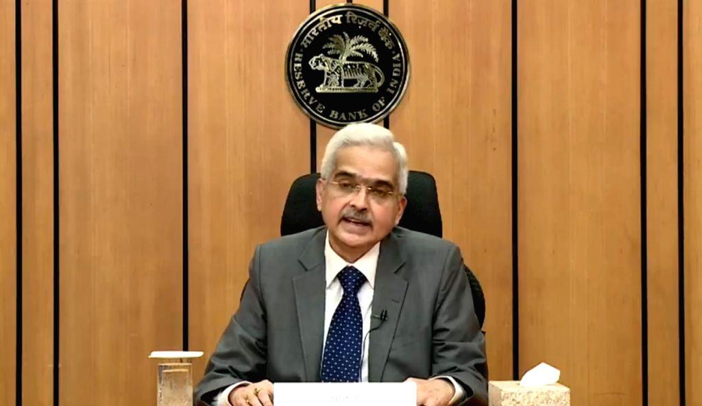Mumbai: Reserve Bank of India (RBI) Governor Shaktikanta Das addresses a press conference in Mumbai on May 22, 2020. (Photo: IANS/RBI)
