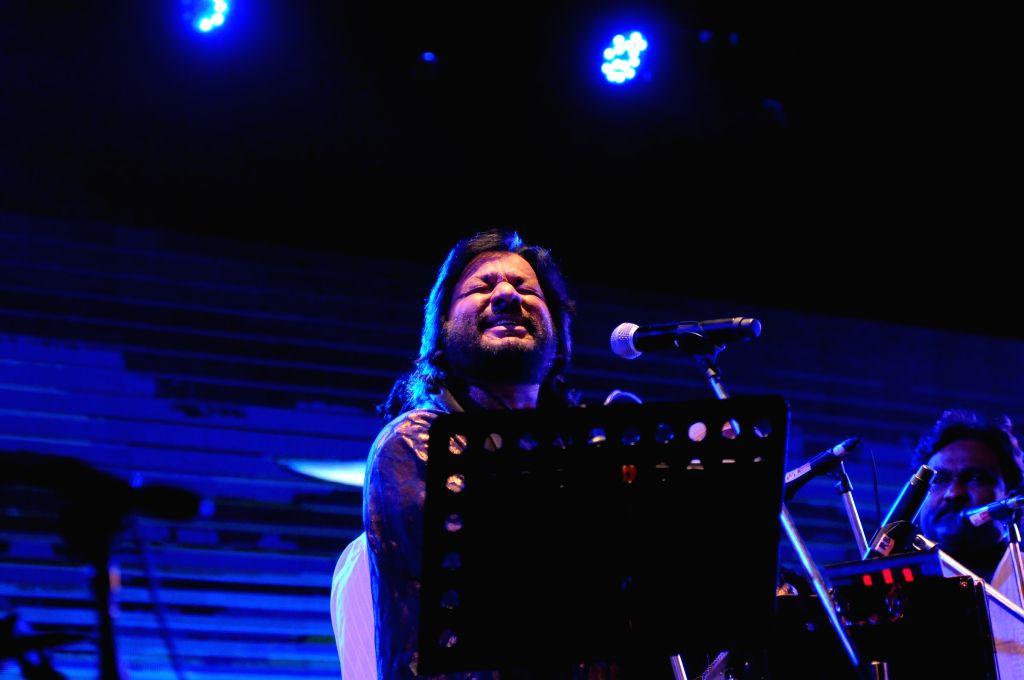Roop Kumar Rathod Performs during a music concert `Ru-Ba-Ru -The Soul of Fusion` spearheaded by Sandeep Mahavir in Mumbai, on Feb 11, 2015.