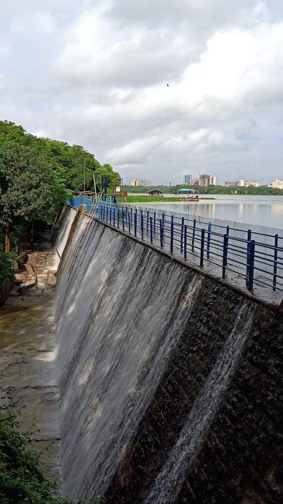 Mumbai's smallest, 131-year old POWAI LAKE, with a capacity of 5455-million litres water for industrial use, started overflowing today, at least 3-weeks before it's normal overflow schedule of early ...