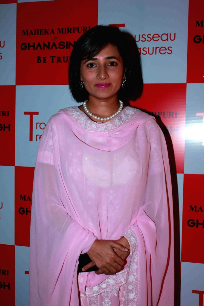 Schauna Chauhan, CEO, Parle Agro during the unveiling of latest Trousseau Treasures collection by Maheka Mirpuri at Ghanasingh Be True Store in Mumbai, on Feb 11, 2015. - Schauna Chauhan