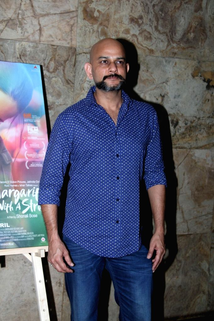 Screen play writer Viktor Acharya during the special screening of film Margarita With A Straw in Mumbai on April 8, 2015.