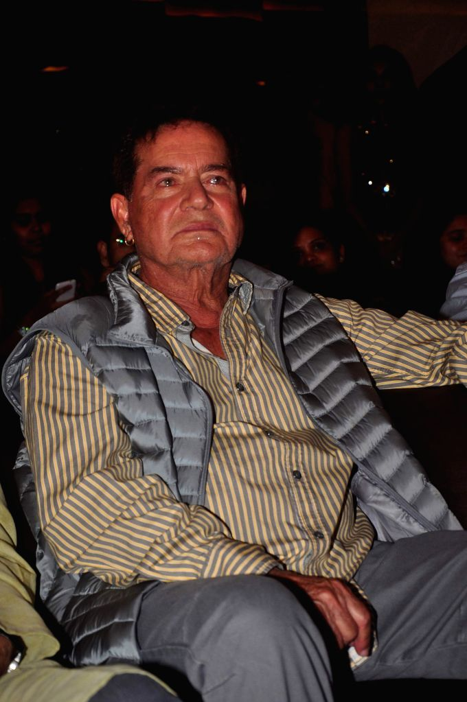 Screenplay writer Salim Khan during the first look and music launch of Marathi film Welcome Zindagi in Mumbai, on May 2, 2015. - Khan