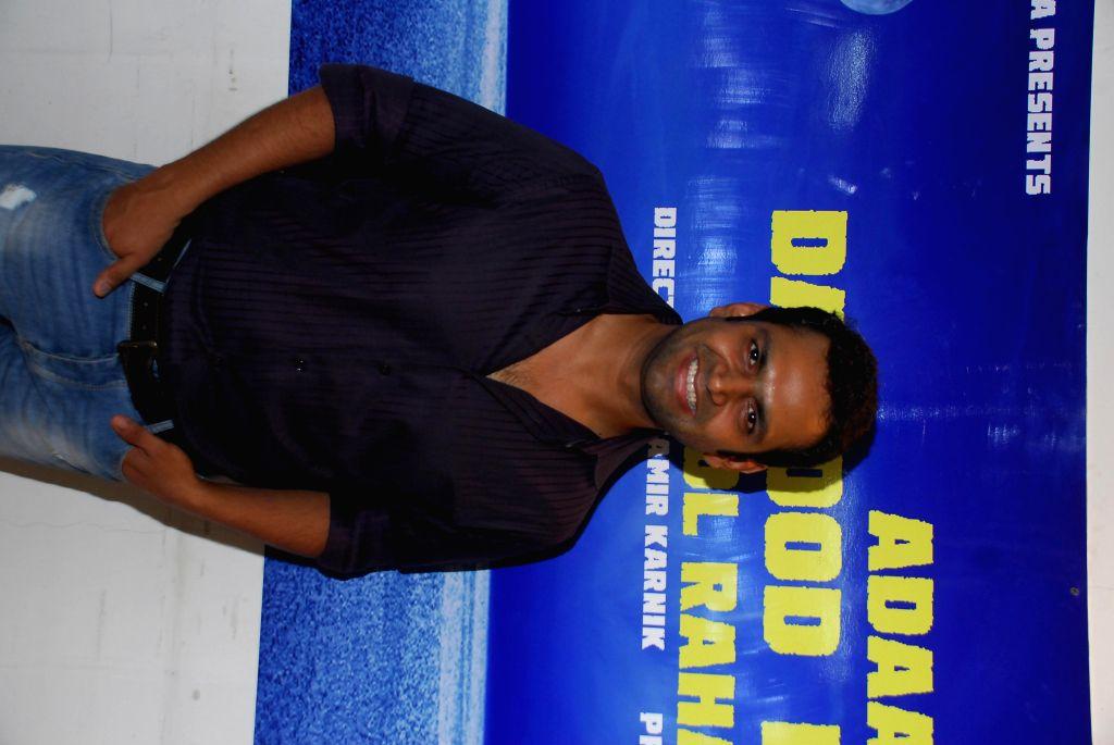 Shaarib Hashmi during announced a new project, a situational comedy called `Adaab Dawood Ibrahim Bol Raha Hoon` in Mumbai on 13th Jan 2015