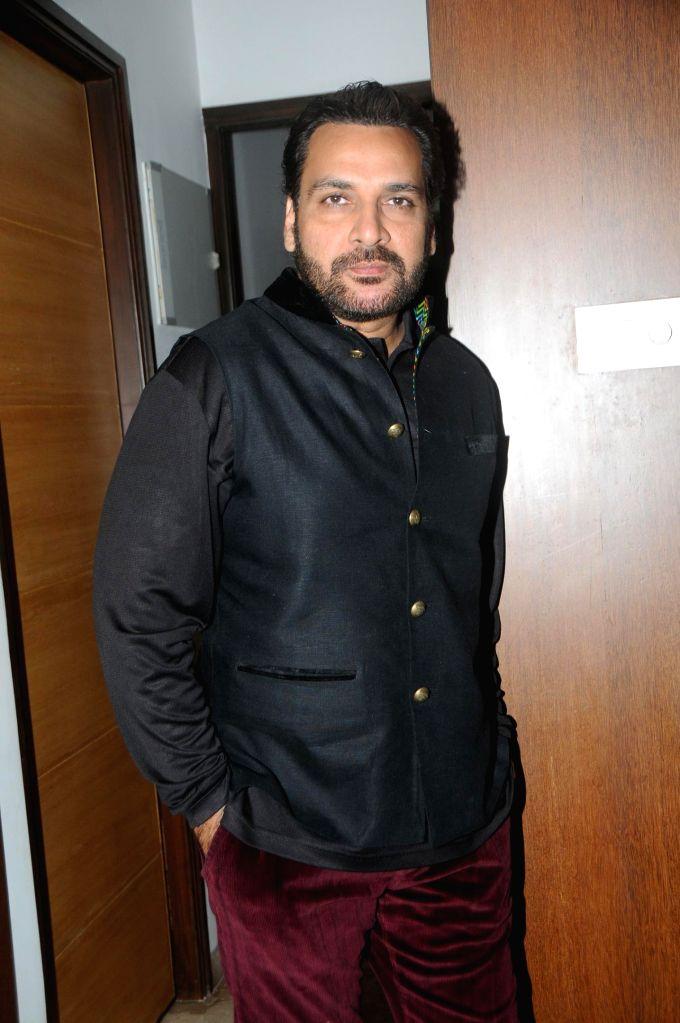 Shahbaz Khan during the birthyday of director Kaushik Banerjee in Mumbai on Jan 10, 2015. - Shahbaz Khan