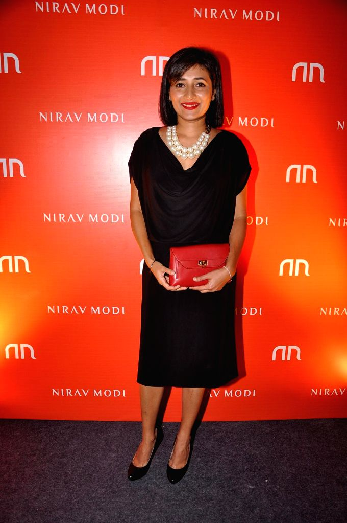 Shauna Chauhan during the inauguration of Nirav Modi Jewellry shop in Mumbai on March 14, 2015. - Shauna Chauhan