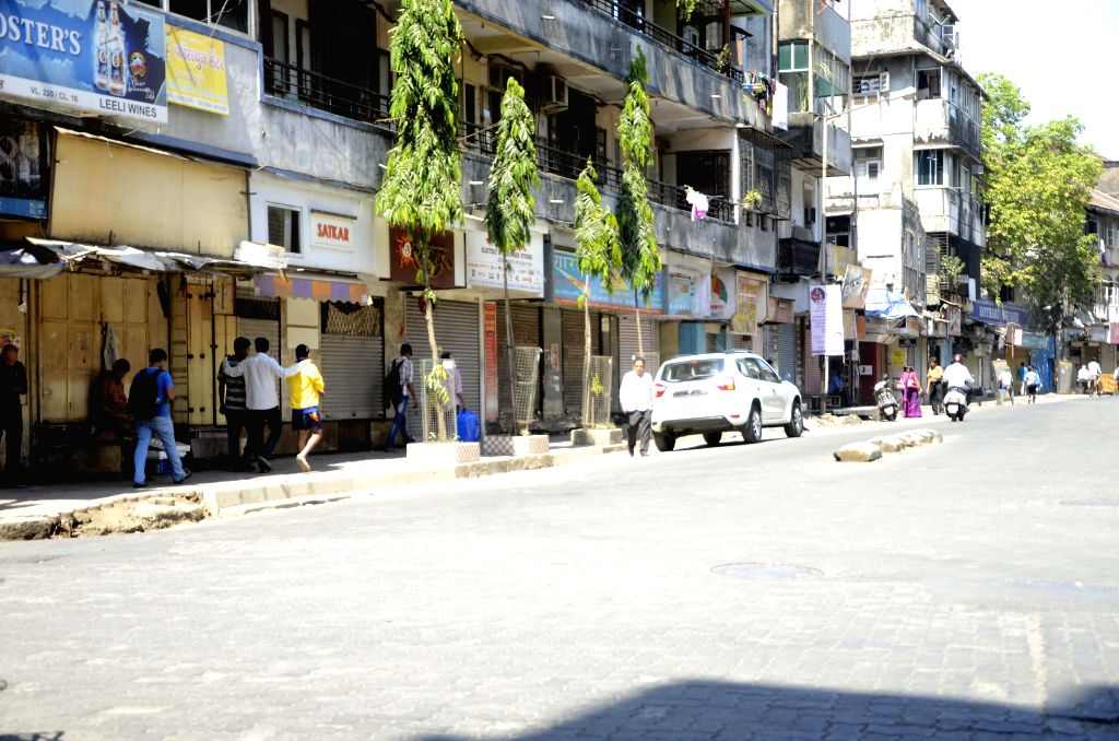 Shops in Girgaum-Kalbadevi keep their shutters down as the residents of the area call a strike to protest against a metro project passing through the area  ​in Mumbai on March 18, 2015. The ...