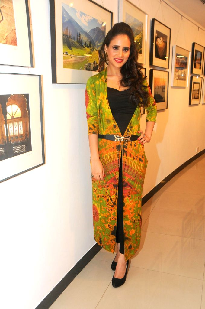 Shweta Khanduri during the photo exhibition `The Melted Core` by photographer Nisheeth Bhatt in Mumbai, on Nov. 4, 2014.