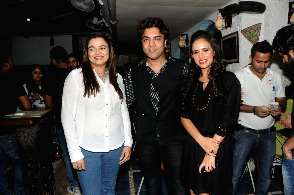 Shweta Khanduri with Friends during the song launch of film Titto MBA in Mumbai, on Nov. 4, 2014.