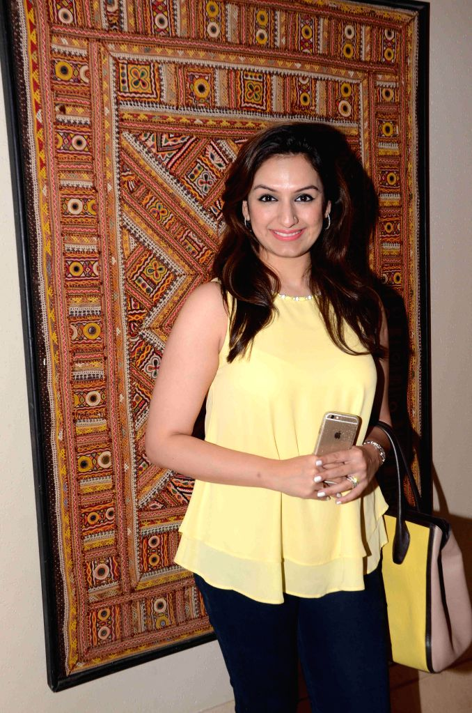Singer Akriti Kakar during the 16th IIFA Voting Weekend, in Mumbai on March 13, 2015.