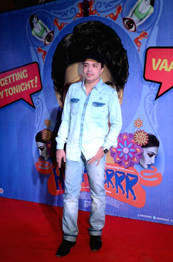 Singer Altaf Raja during the premiere of film Hunterrr in Mumbai on March 17, 2015.