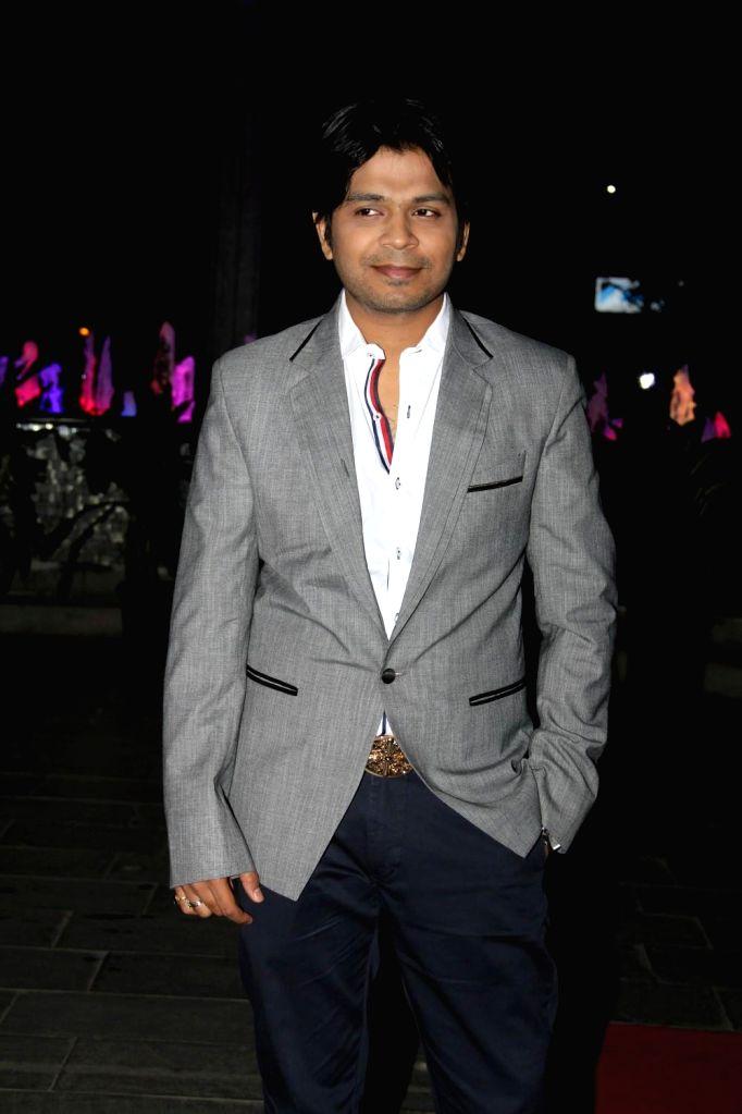 Singer Ankit Tiwari during the wedding reception of Tulsi Kumar and Hitesh in Mumbai on March 2, 2015.