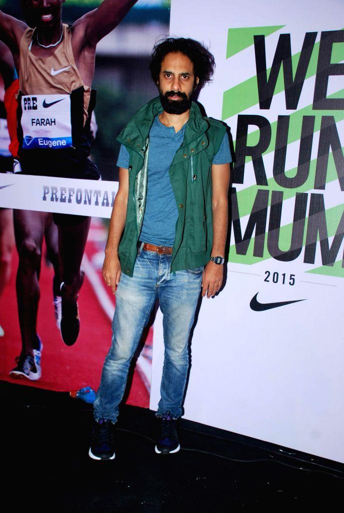 Singer Ankur Tewari during the promotion for NIKE ZOOM BOOM (marathon run) in Mumbai, on Dec. 20, 2014.
