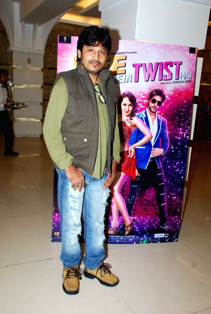 Singer Aryan R Jaiin during the music launch of film Life Mein Twist Hai in Mumbai, on Nov 19, 2014.