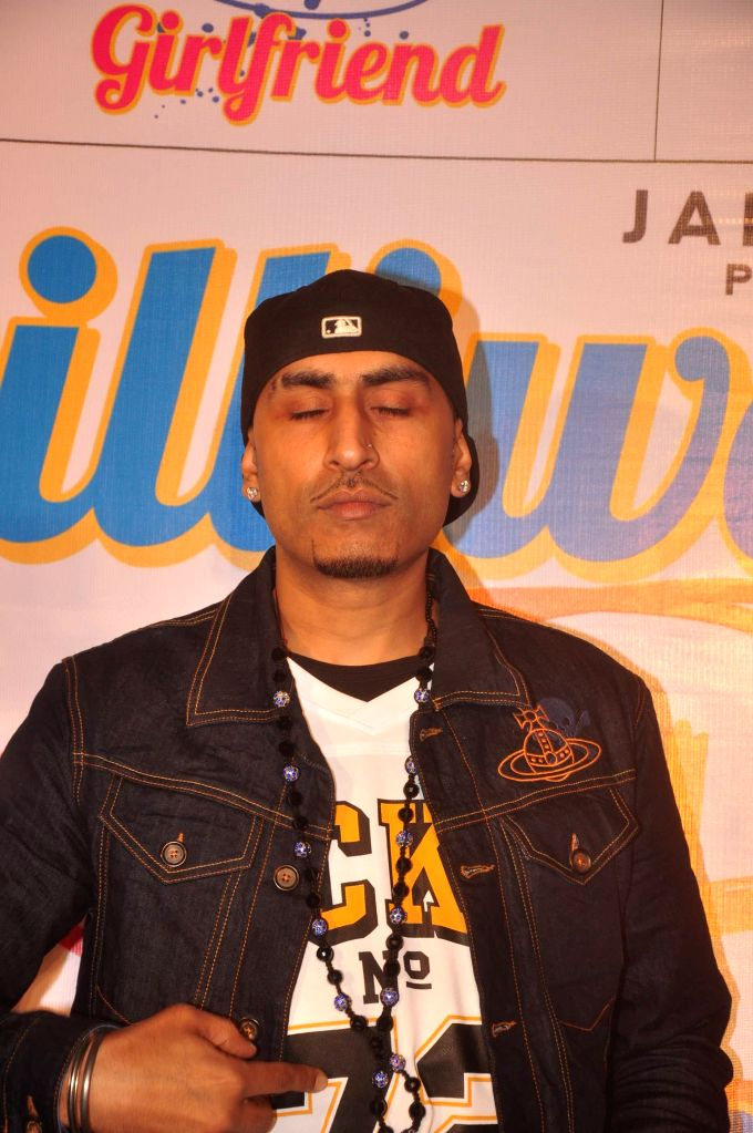 Singer Dr. Zeus during the music launch of film Dilliwali Zaalim Girlfriend in Mumbai on March 9, 2015.