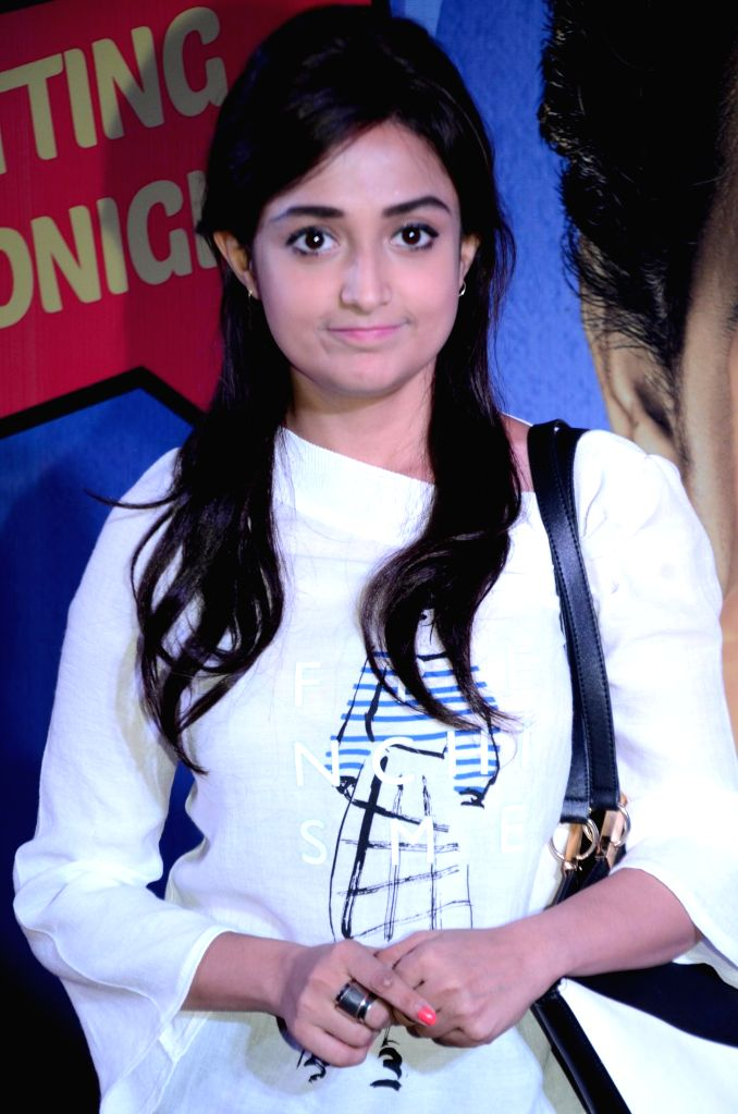 Singer Monali Thakur during the premiere of film Hunterrr in Mumbai on March 17, 2015.