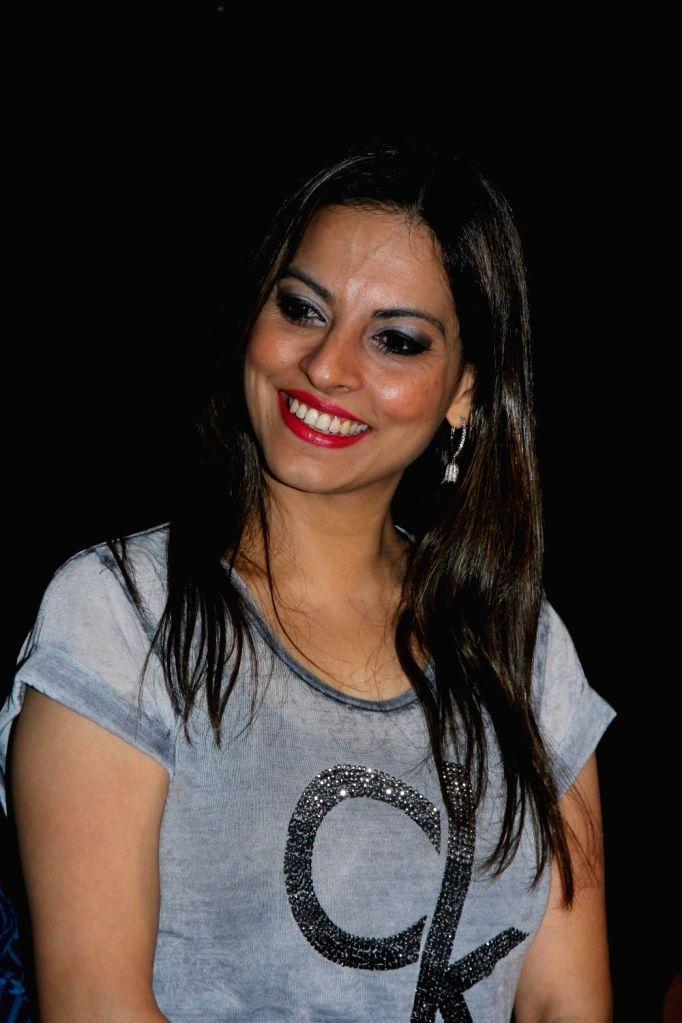 Singer Preeti Bhalla during the music launch of film Hum Baaja Baja Denge in Mumbai, on March 17, 2015.