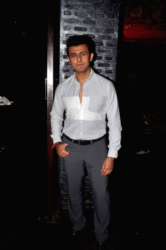 Singer Sonu Nigam during the birthday party in Mumbai on March 5, 2015. - Sonu Nigam