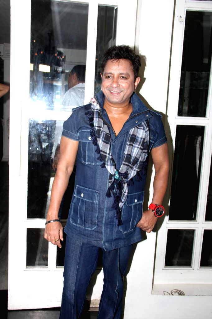 Singer Sukhwinder Singhl during the success party to celebrate National Award for film Haider in Mumbai on March 24, 2015.