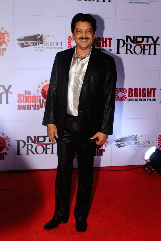 Singer Udit Narayan during the The Shoorveer Awards 2015 in Mumbai on March 14, 2015.