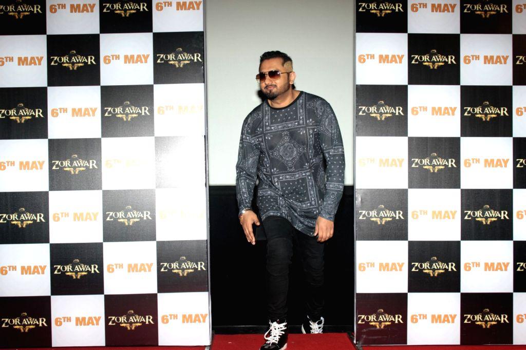 Mumbai: Singer Yo Yo Honey Singh during the trailer launch of the Punjabi film Zorawar, in Mumbai on March 10, 2016. (Photo: IANS) - Singh