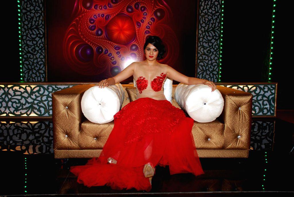 South actress Sakshi on location of Ismail Darbar`s directorial debut at Filmalaya in Mumbai on Feb 24, 2015.