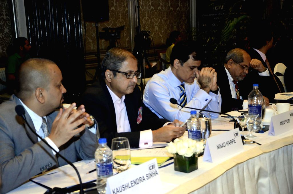 Stakeholders keep a close track of national budget 2015-16 during the `Union Budget Viewing Session 2015-16` organised by CII  in Mumbai, on Feb 28, 2015.