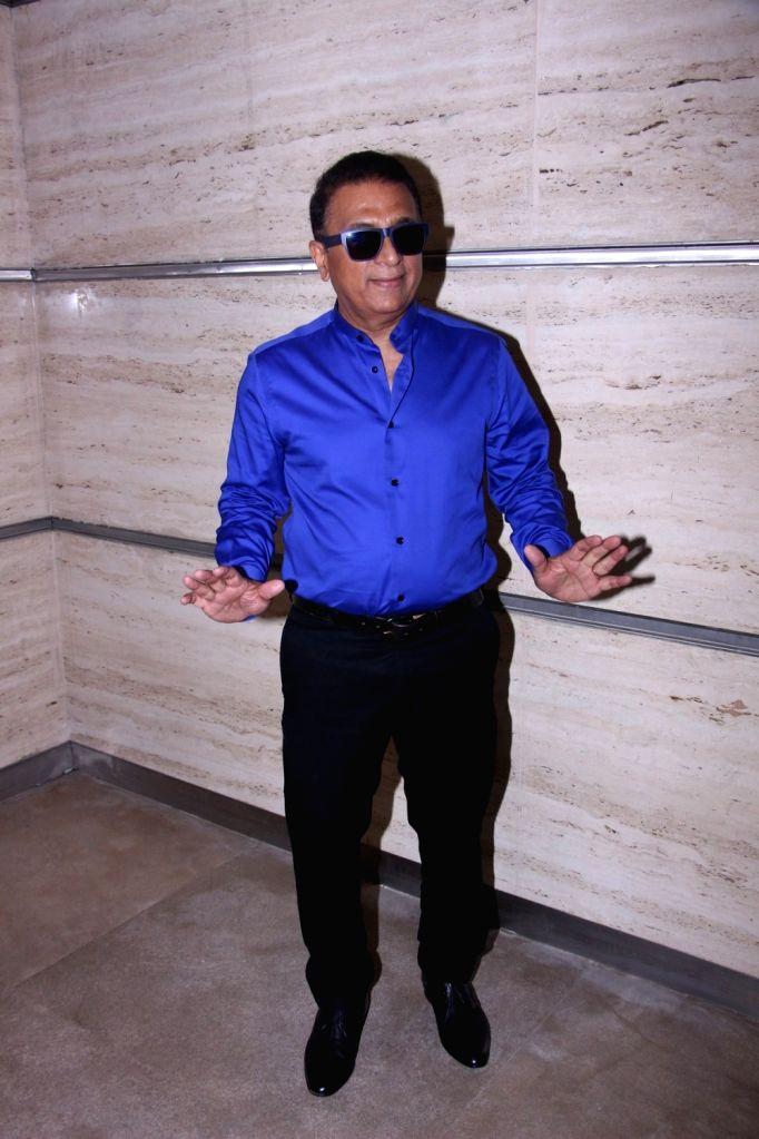 Mumbai: Sunil Gavaskar during the celebration of winning the National Award for film Neerja in Mumbai on April 15, 2017. (Photo: IANS)