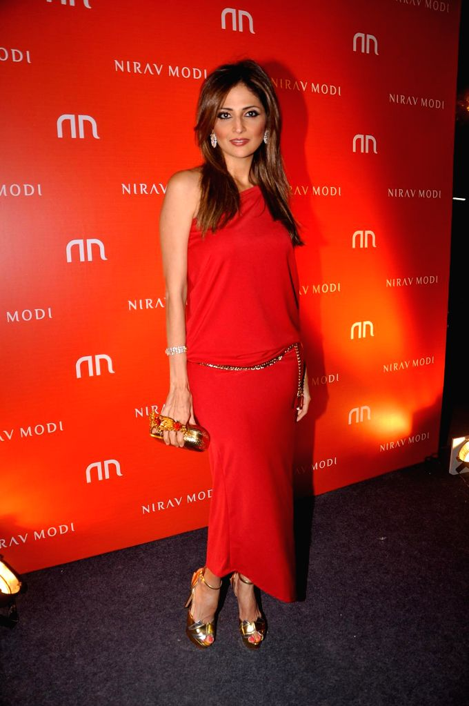 Tanaz Doshi during the inauguration of Nirav Modi Jewellry shop in Mumbai on March 14, 2015.