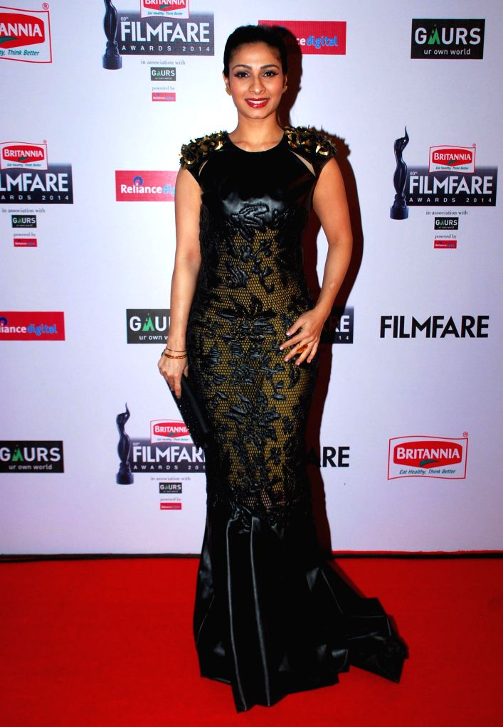 Tanisha graces during the 60th Britannia Filmfare awards in Mumbai, on January 31, 2015.