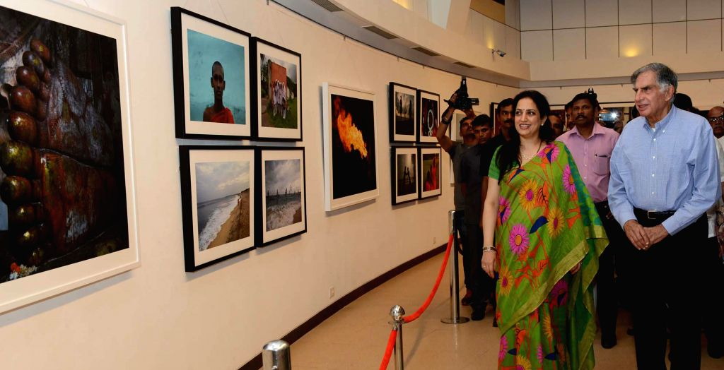 Tata group Chairman Emeritus Ratan Tata at the photography exhibition of Shiv Sena Chief Uddhav Thackeray, organised to raise funds for drought affected farmers, in Mumbai, on Jan 12, 2015. - Ratan Tata
