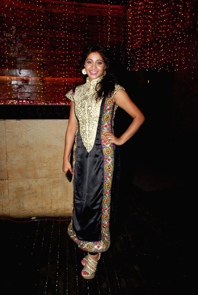 Television actor Amrapali Gupta during the launch party of Zee TV new show Service Wali Bahu in Mumbai on Feb 23, 2015. - Amrapali Gupta