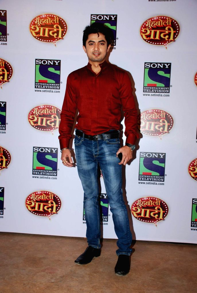 Television actor Diyaansh Sharma during the launch of Sony TV upcoming show `Muh Boli Shaadi` in Mumbai on Feb 19, 2015. - Diyaansh Sharma