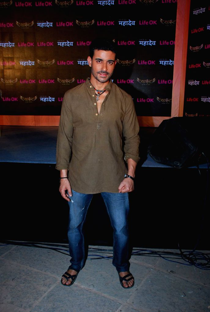 Television actor Gautam Rode during the launch of Life Ok new serial Mahakumbh in Mumbai, on Dec 5, 2014. - Gautam Rode