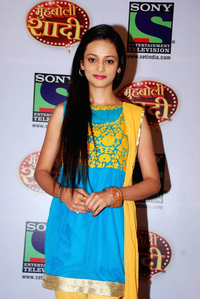 Television actor Kajal Srivastav during the launch of Sony TV upcoming show `Muh Boli Shaadi` in Mumbai on Feb 19, 2015. - Kajal Srivastav