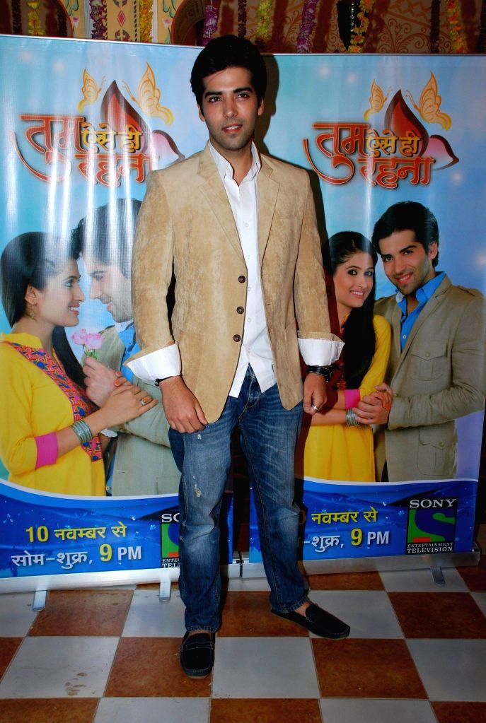Television actor Kinshuk Mahajan during the launch of Sony TV new show Tum Aise Hi Rehna, in Mumbai, on Nov. 4, 2014. - Kinshuk Mahajan