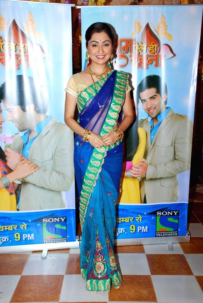 Television actor Namrata Thapa during the launch of Sony TV new show Tum Aise Hi Rehna, in Mumbai, on Nov. 4, 2014. - Namrata Thapa