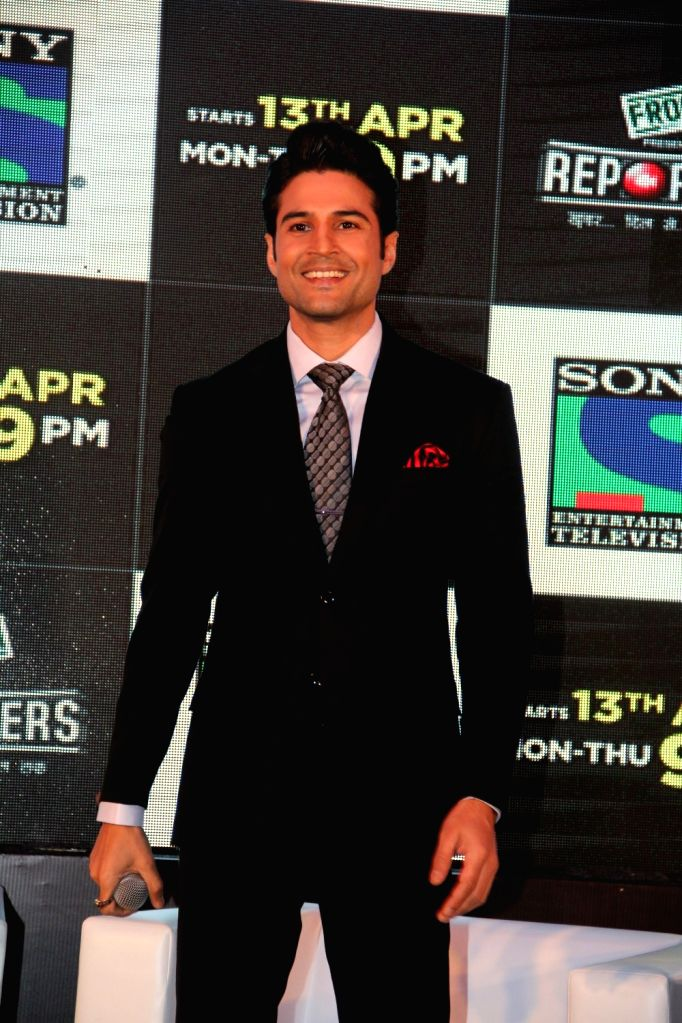Television actor Rajiv Khandelwal during the launch of Sony TV`s new serial Reporters in Mumbai on April 9, 2015. - Rajiv Khandelwal