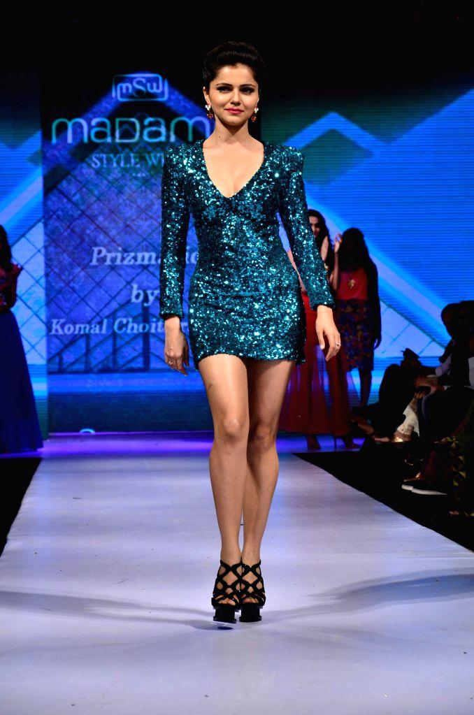 Television actor Rubina Dilaik during Madame Style Week fashion show in Mumbai, on Nov. 22, 2014. - Rubina Dilaik