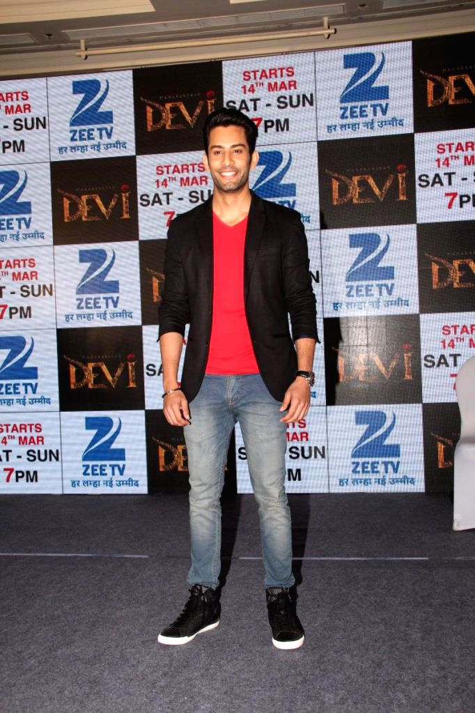 Television actor Saahil Uppal during the press conference to announce Zee TV new show Maharakshak Devi in Mumbai, on March 10, 2015. - Saahil Uppal
