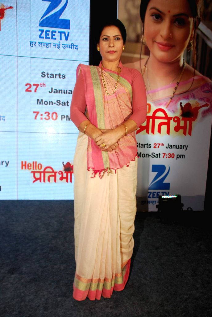 Television actor Sangeeta Panwar during the launch of television serial Hello Pratibha in Mumbai, on Jan. 19, 2015. - Sangeeta Panwar