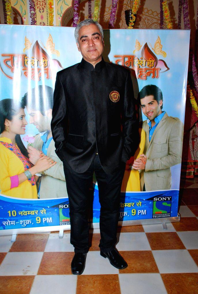 Television actor Sanjay Gandhi during the launch of Sony TV new show Tum Aise Hi Rehna, in Mumbai, on Nov. 4, 2014. - Sanjay Gandhi