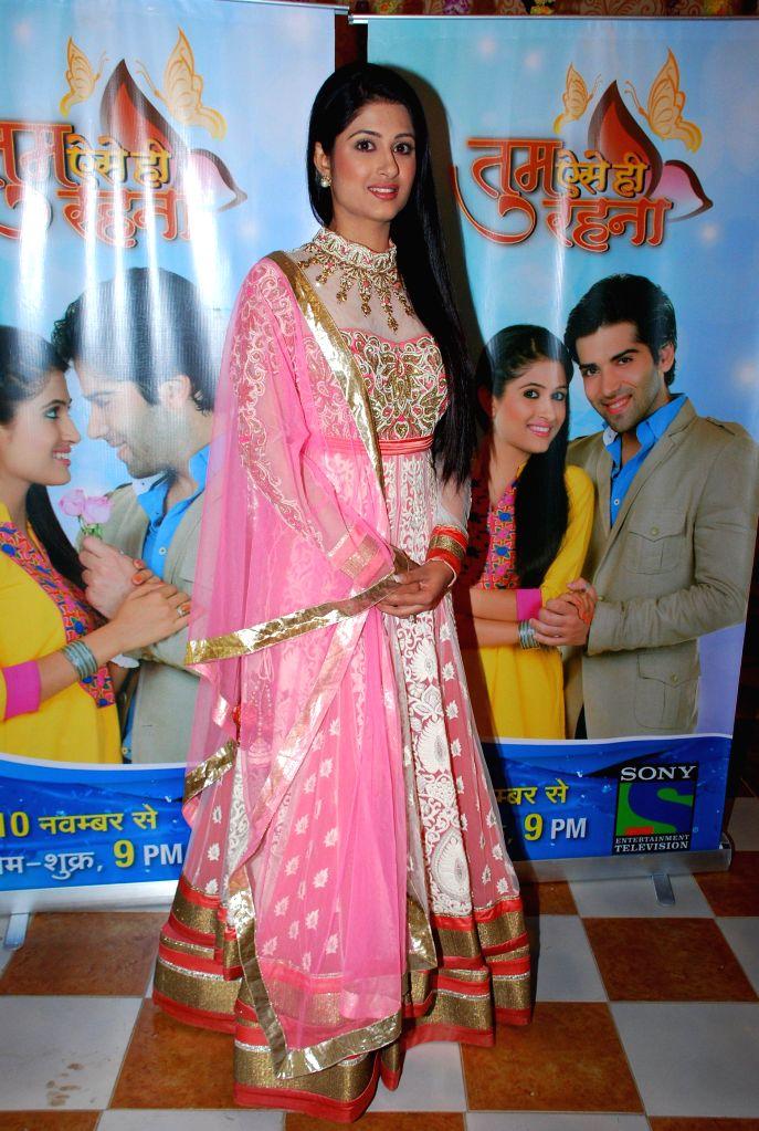 Television actor Shefali Sharma during the launch of Sony TV new show Tum Aise Hi Rehna, in Mumbai, on Nov. 4, 2014. - Shefali Sharma