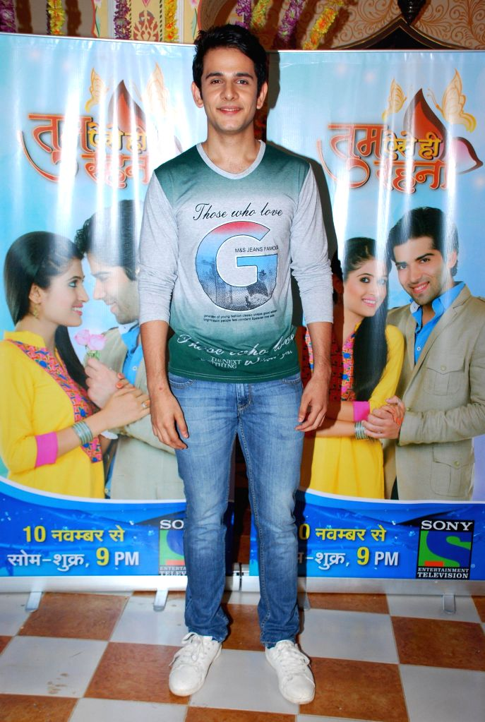 Television actor Skund Thakur during the launch of Sony TV new show Tum Aise Hi Rehna, in Mumbai, on Nov. 4, 2014. - Skund Thakur