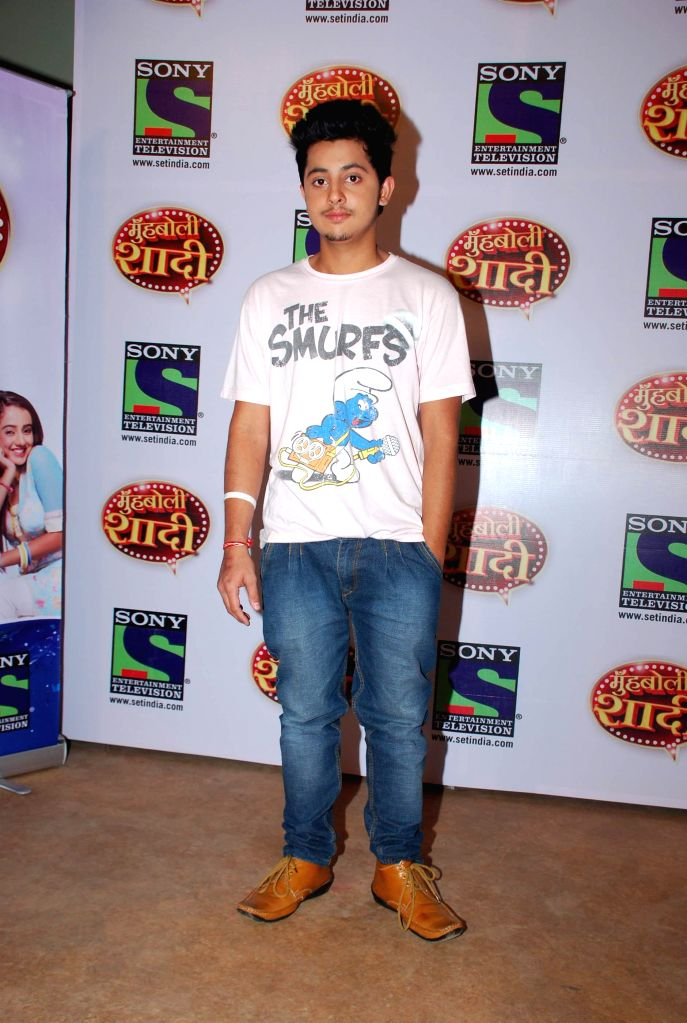 Television actor Tanaye during the launch of Sony TV upcoming show `Muh Boli Shaadi` in Mumbai on Feb 19, 2015. - Tanaye