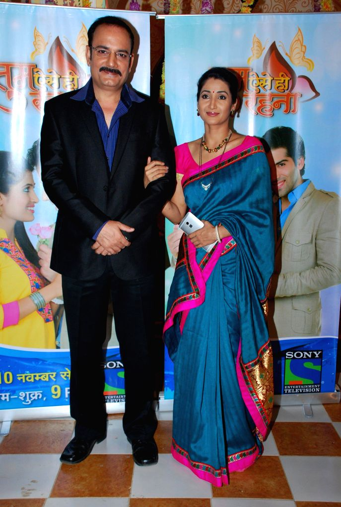 Television actors Sonica Handa and Mohit Chauhan during the launch of Sony TV new show Tum Aise Hi Rehna, in Mumbai, on Nov. 4, 2014. - Sonica Handa and Mohit Chauhan