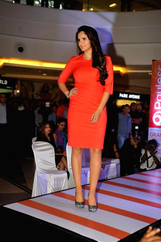 Tennis player Sania Mirza during the launch of footwear Store and Fashion Show at Phoenix Market City Mall in Mumbai, on Nov 19, 2014.