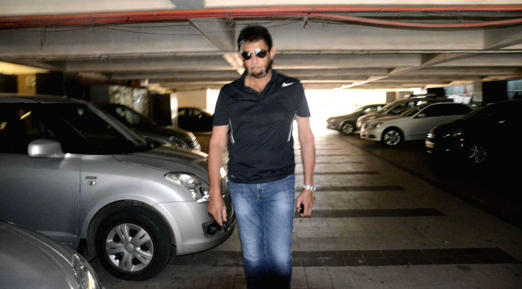 The chairman of the five-member BCCI team selection panel Sandeep Patil arrives for a meeting at Wankhede Stadium in Mumbai, on Dec 4, 2014. - Sandeep Patil