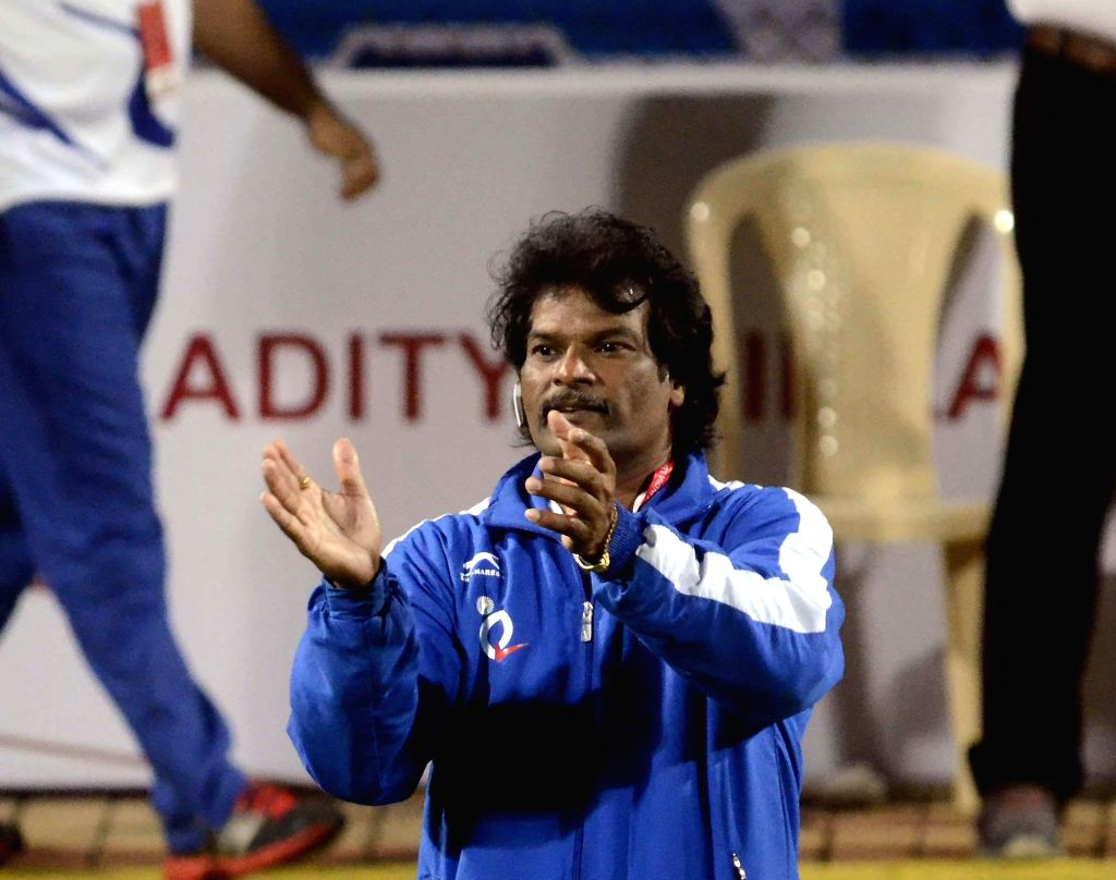 The coach of Uttar Pradesh Wizards, former Indian captain Dhanraj Pillay during a Hockey India League match between Dabang Mumbai and Uttar Pradesh Wizards in Mumbai, on Feb 11, 2015. - Dhanraj Pillay