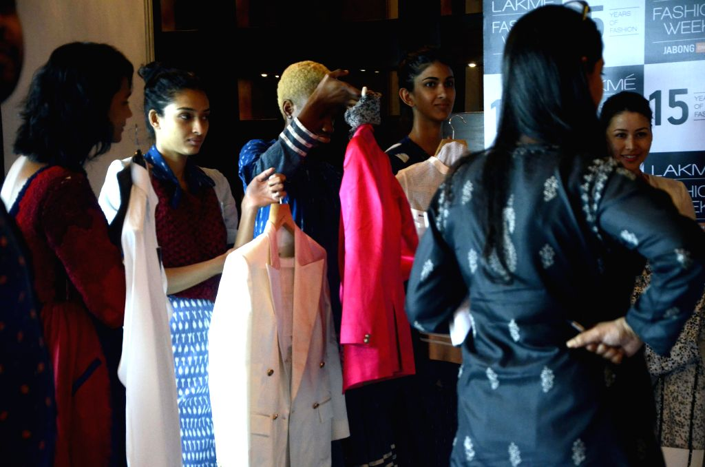 The models who will be participating in the upcoming `Lakme Fashion Week 2015` during rehearsals in Mumbai on March 14, 2015.