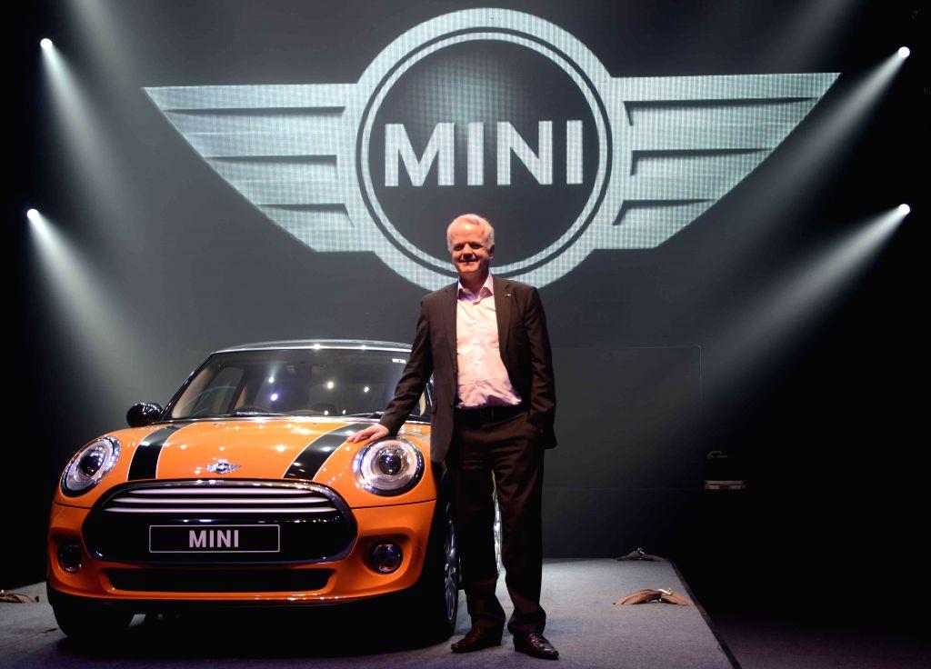 Mumbai: The President of BMW Group India Philipp von Sahr at the launch of MINI 3 in Mumbai, on Nov 19, 2014. (Photo: Sandeep Mahankal/IANS)